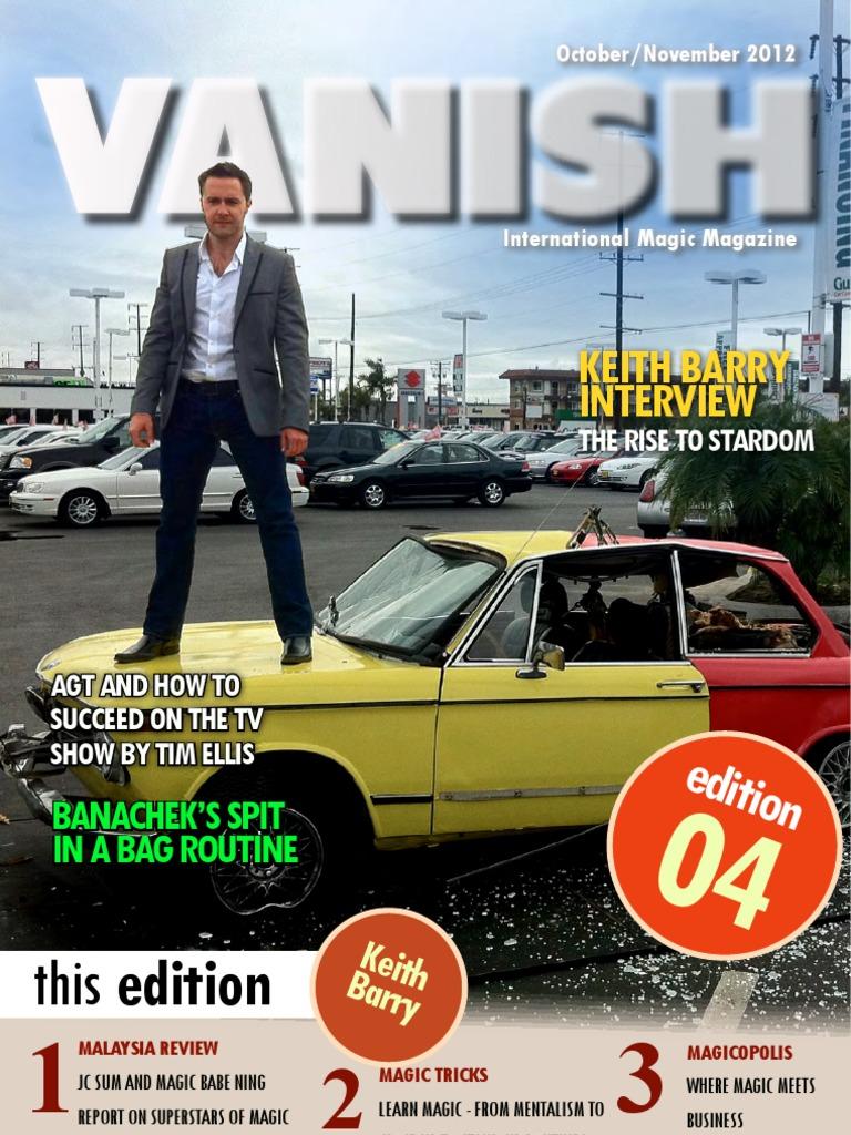 Revista Vanish Magazine N 4 Entertainment Leisure Split Charge Switchc A Brooks 2005