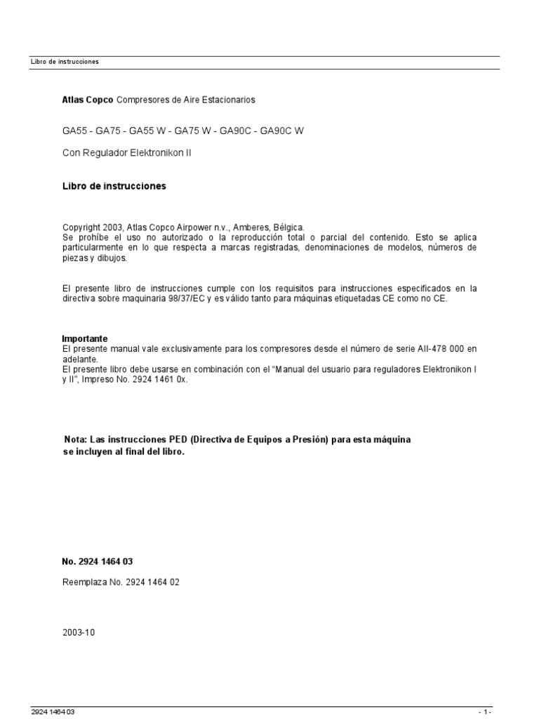 gx11ff Array - atlas copco manual de elektronicon ga 75 usuario 2 rh es  scribd ...
