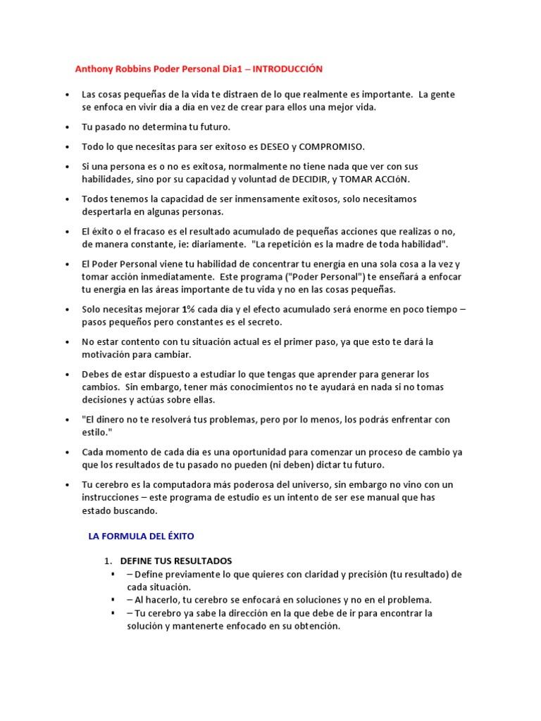 Estrategia perdida de peso tony robbins pdf download