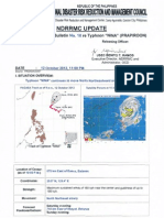 NDRRMC Update Re Severe Weather Bulletin No. 10 for Typhoon NINA (PRAPIROON)