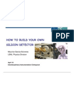 How to Build Your Own Silicon Detector