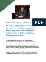 El Derecho a La Vida y a La Cultura de La Muerte-Dr. Eduardo Sambrizzi