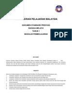 Dokumen Standard Prestasi b. Melayu Pendidikan khas bermasalah pembelajaran Tahun 1