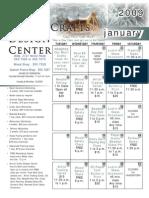 January 2009 Calendar Flyer