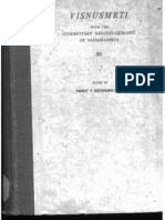 Vishnusmriti With the Commentary Keshavavijayanti of Nandapandita II - Edited by v. Krishnamacharya