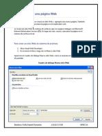 Creacion de una página Web básica en Visual Web Developer y otras funciones