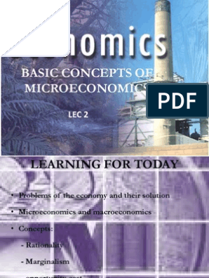 Basic Concepts of Microeconomics | Economic Equilibrium
