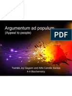 Argumentum Ad Populum (Appeal to the People) (1)