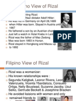The Filipino View of Rizal