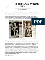 Thiripura Samharam by Lord Siva