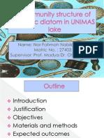Community Structures of Benthic Diatoms in UNIMAS Lake (2)
