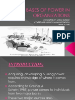 Bases of Power in Organizations