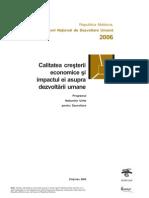 Raportul National de Dezvoltare Umana Versiune Integrala