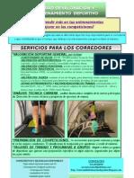 SERVICIOS OFRECIDOS UNIDAD VALORACIÓN Y ENTRENAMIENTO DEPORTIVO OCTUBRE 2012