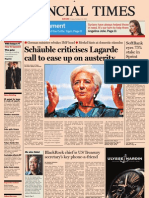 Financial Times Europe - Friday, October 12th 2012
