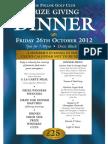 Pollok Prize Dinner 2012