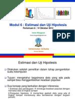 Pengantar Statistik Sosial Pertemuan6 Modul6 (20121014)