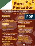 Programa General Festa Major Sant Pere Pescador Juny 2010