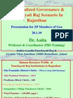 Decentralization Governance & P. Raj Scenario in Rajasthan