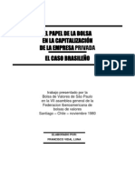 El papel de la Bolsa en la capitalizacion de la empresa privada_El caso brasileño