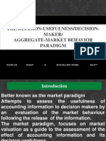the decision-usefulness/decision-maker/aggregate-market behavior paradigm