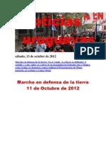 Noticias Uruguayas sábado 13 de octubre del 2012
