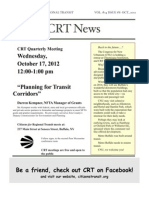 Citizens for Regional Transit - Oct.17 Quarterly Meeting & Newsletter