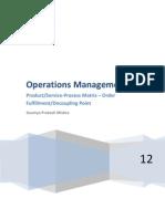 Operations Management ProductProcessmatrix OrderFullfilment