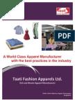 Taati Fashion Apparels Profile 2012