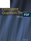 Griffiths Consistent Quantum Theory