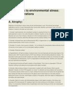 Adaptations to Environmental Stress