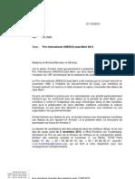 UNESCO/Guillermo Cano Prize - Français