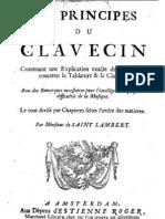 Saint Lambert, Monsieur De__Les Principes Du Clavecin (1702)