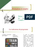 Thème- le diplôme un passeport pour l'emploi 2012-2013