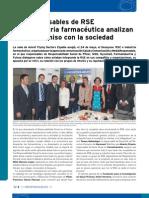 Responsables de RSE de la industria farmacéutica analizan su compromiso con la sociedad