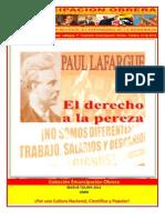 Libro No. 345. El derecho a la pereza. Lafargue, P. Colección Emancipación Obrera. Octubre 13 de 2012