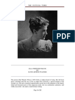 KRITIKA Ella Wheeler Wilcox, H.P. Blavatsky, Anonymous Critic