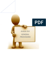 Article Xvi General Provisions