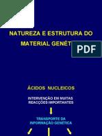 Natureza e estrutura do material genético - BM 2007