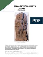 About Navarathiri & Vijaya Dasami