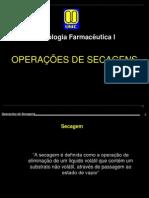 Forma Farmacêutica - Operacoes de secagem Tecnologia