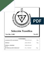 Selección Teosófica - Nov 2001