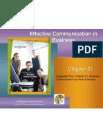 Business Communication Chapter 01