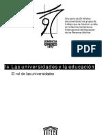 Rol de La Universidad
