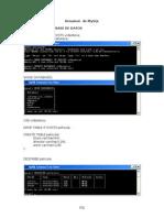 Ejemplos de MYSQL en Consola