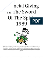 Financial Giving In The Sword Of The Spirit 1989