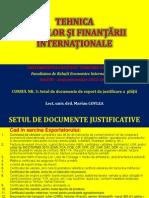 CURSUL NR. 3 - SETUL DE DOCUMENTE DE EXPORT