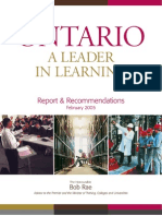 Ontario - A Leader in Learning - Report & Recommendations - Honourable Bob Rae - February 2005