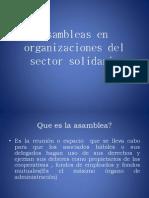 Asambleas en Organizaciones Del Sector Solidario