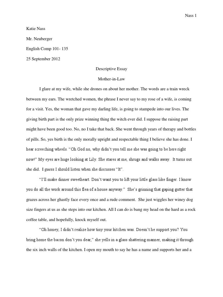 description of a mother essay